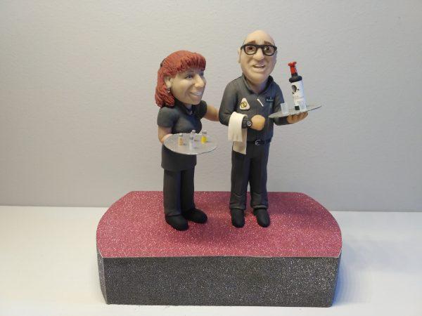 Escultura personalizada para regalo en boda