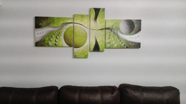 Cuadro abstracto personalizado pintado a mano con oleo sobre lienzo