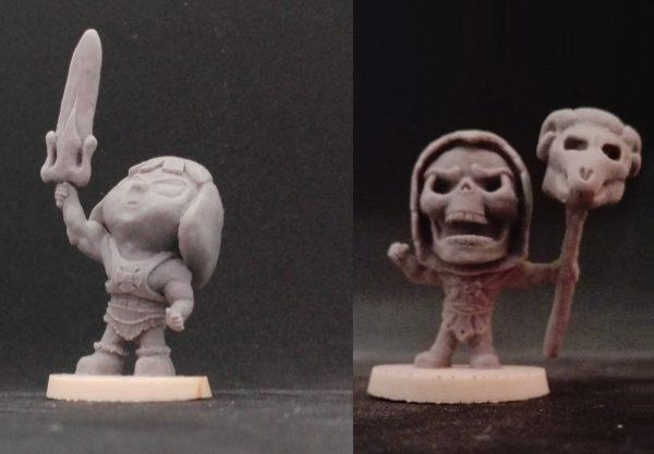 Escultura figura en miniatura heman y eskeletor chibi para juego de mesa warhammer rol (3)