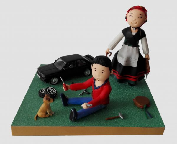 Figura personalizada asturiana y mecanico