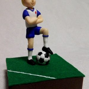 Figura personalizada para tarta de cumpleaños de futbolista