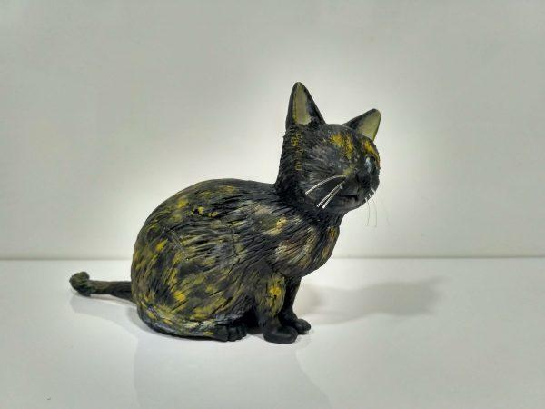 Escultura porcelana fria de Gatico ciego