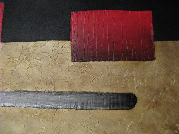 Cuadro abstracto pintado a mano con oleo sobre lienzo titulado las fronteras