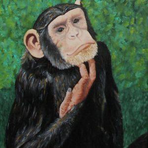 Cuadro realista pintado a mano con oleo sobre lienzo de la mona Lisa